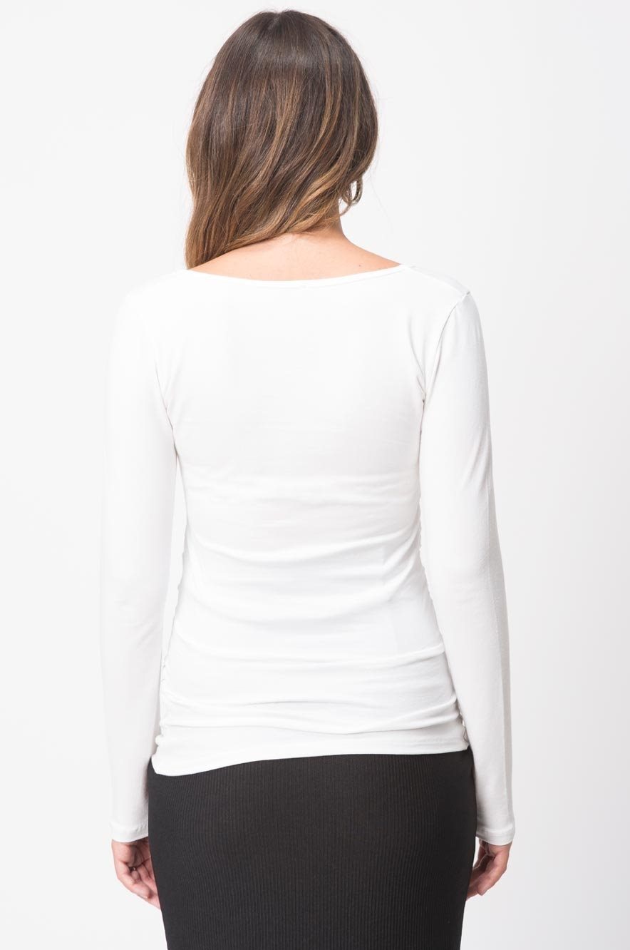 Picture of Vivi Top L. Sleeve White