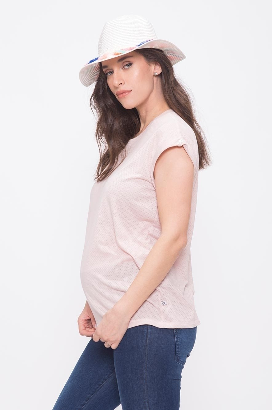 Picture of Mesh Maternity Top Pink