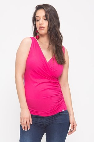 Picture of Wrap Over Nursing Tank Pink