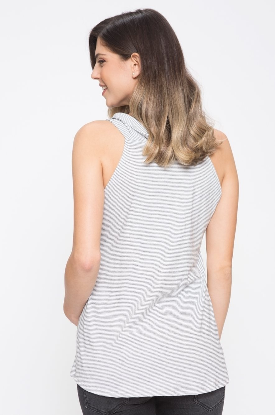 Picture of Cowl Neck Nursing Top Grey