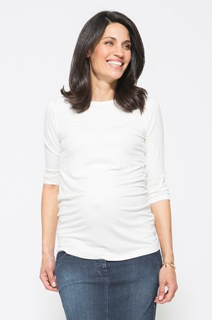 Picture of Basic Pregnancy Top 3/4 Sleeves White