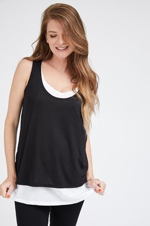 Picture of Layered Nursing Tank Black