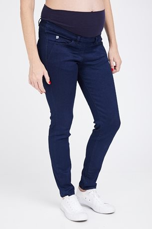 Picture of Donna Super Skinny Blue Maternity Jeans