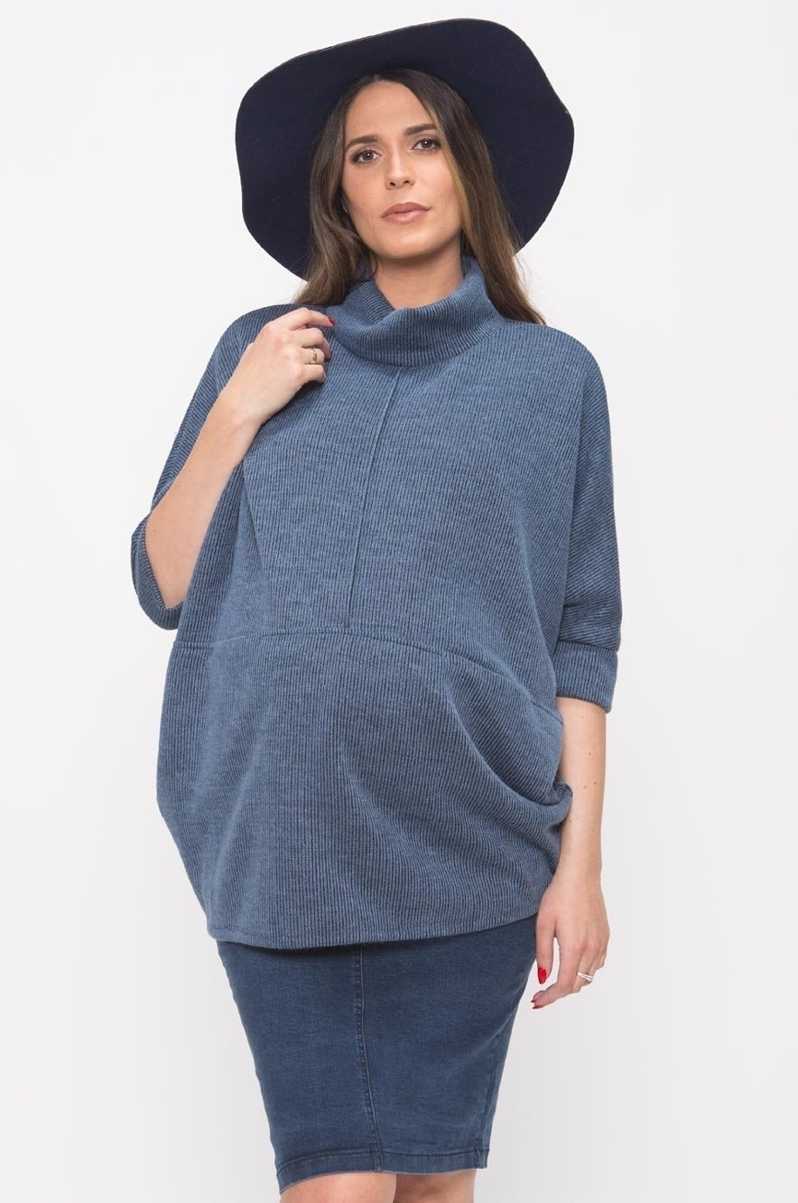 Picture of LONDON KNIT TOP BLUE