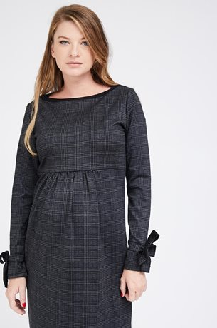 Picture of Zohar Dress Grey Plaid