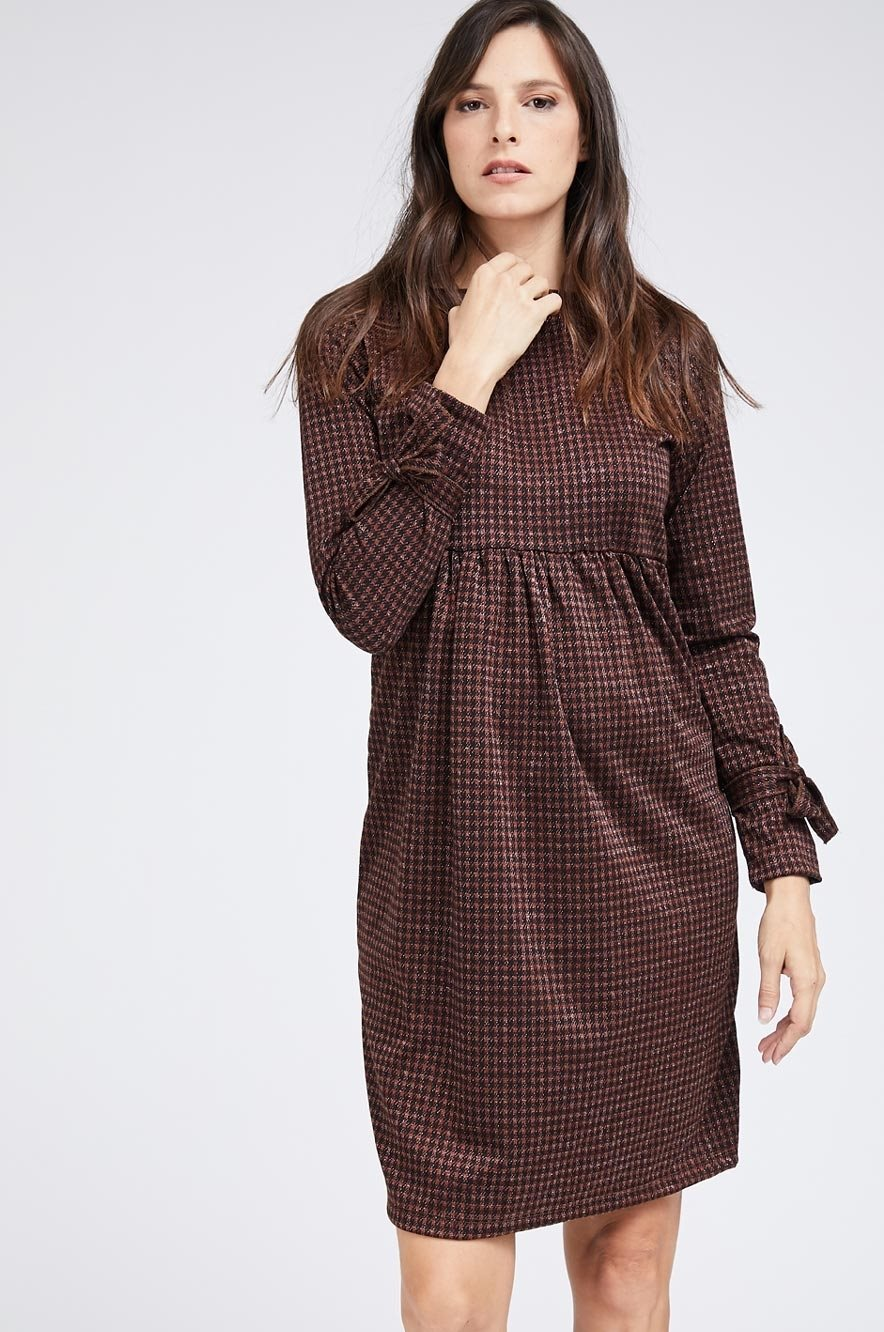Picture of ZOHAR DRESS BROWN PLAID