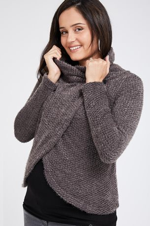Picture of Gaya Wrap Cardigan Grey