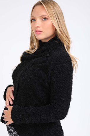 Picture of Gaya Wrap Cardigan Black
