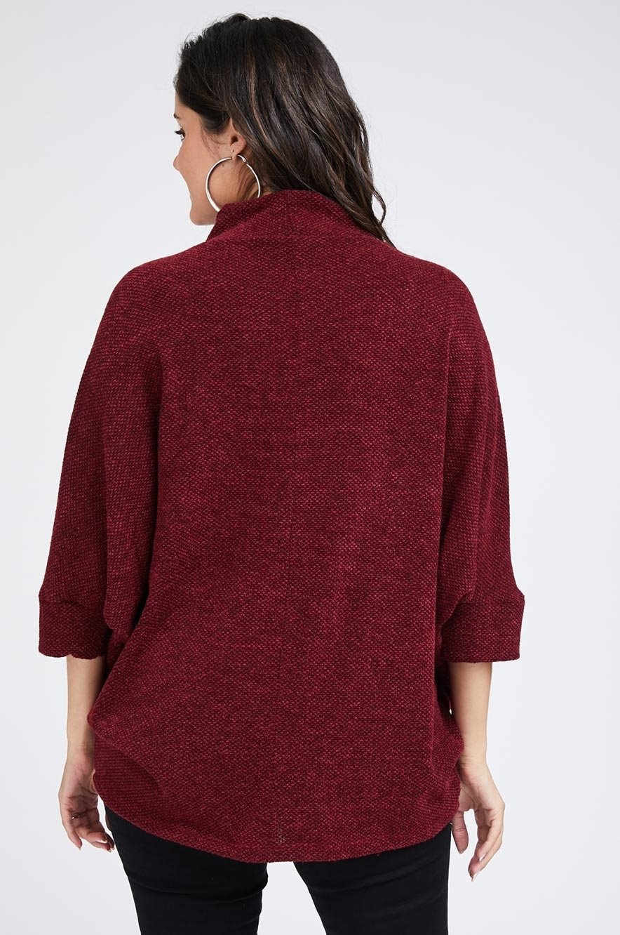Picture of Mandy Knit Top Maroon