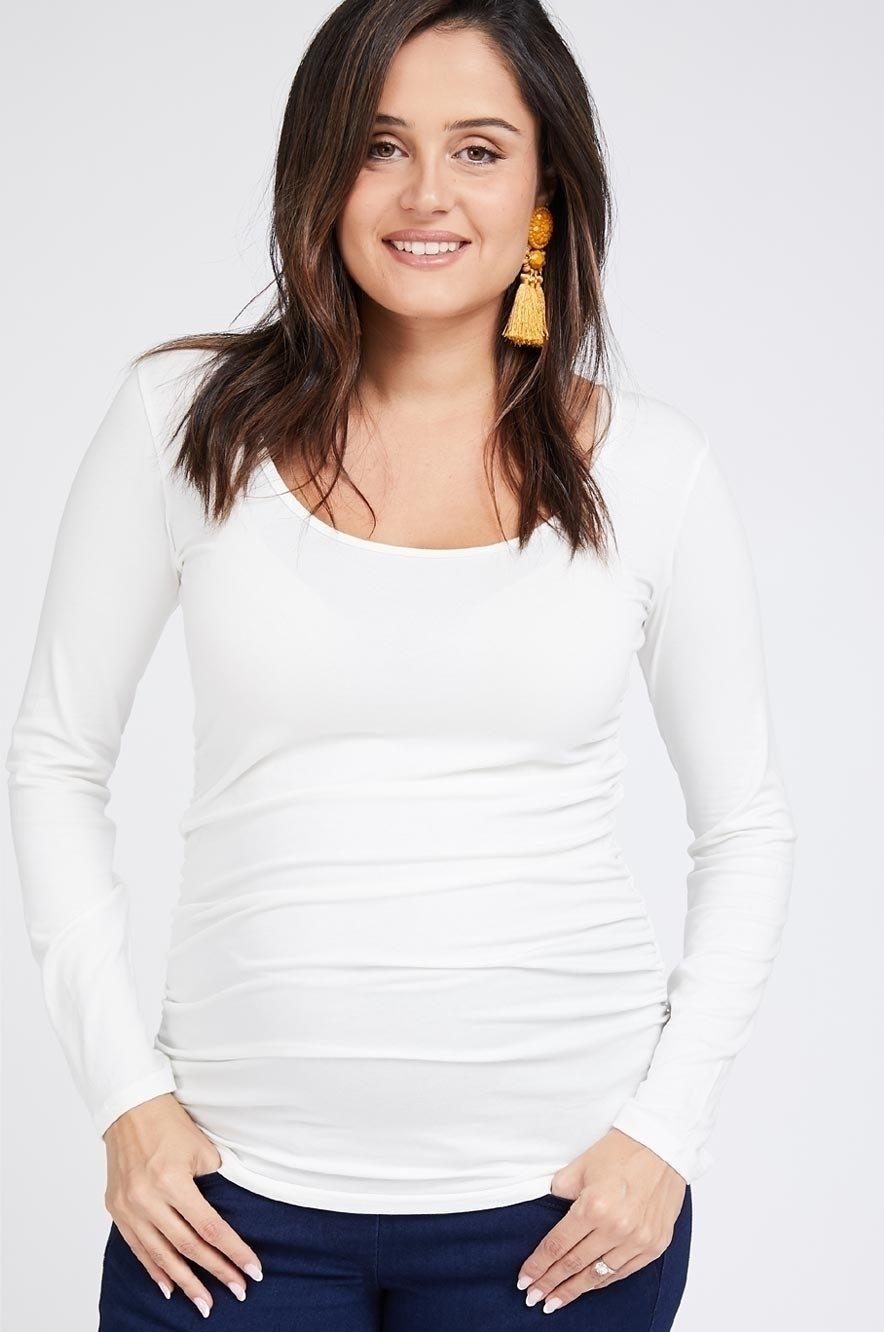 Picture of Baby Grow Maternity Top L.sleeve Cream