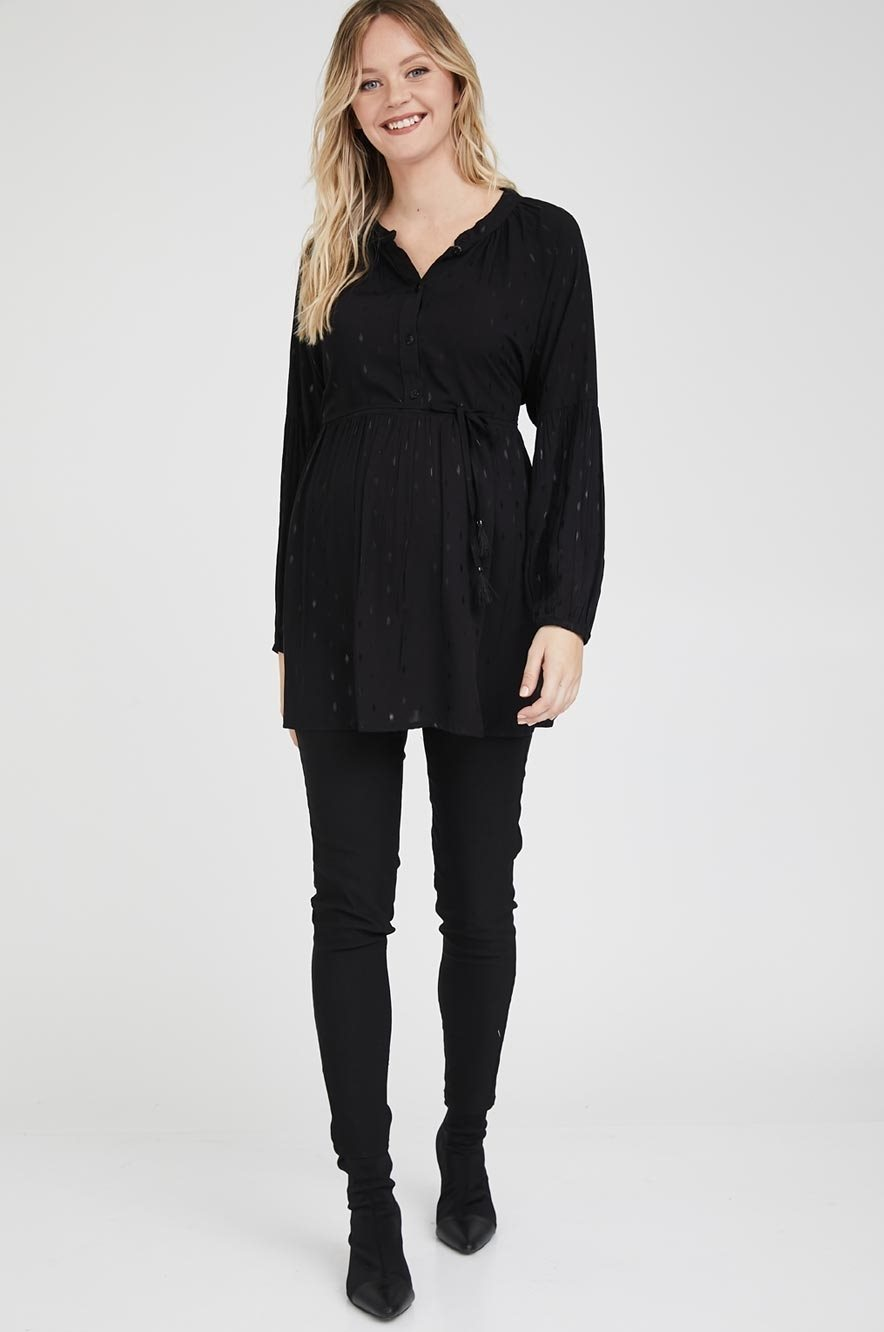Picture of Katie Top Black Jacquard