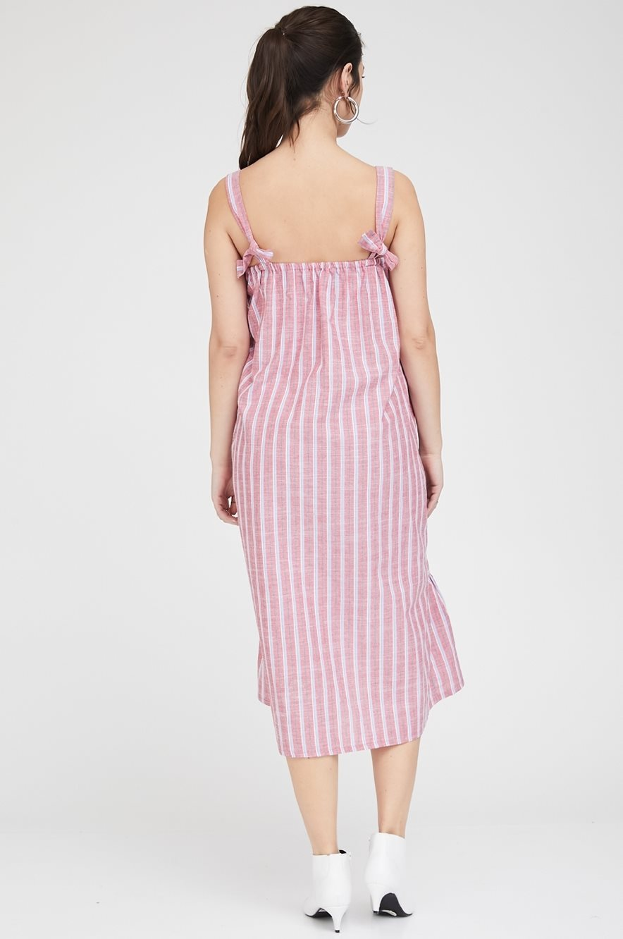 Picture of Rose Dress Red Stripes