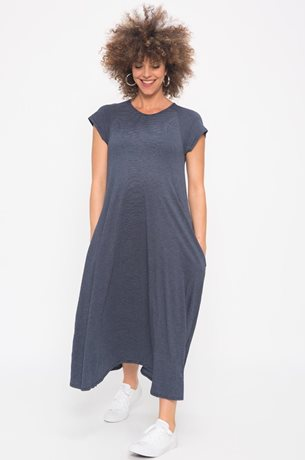 Picture of Daria Maternity Dress Blue stripes