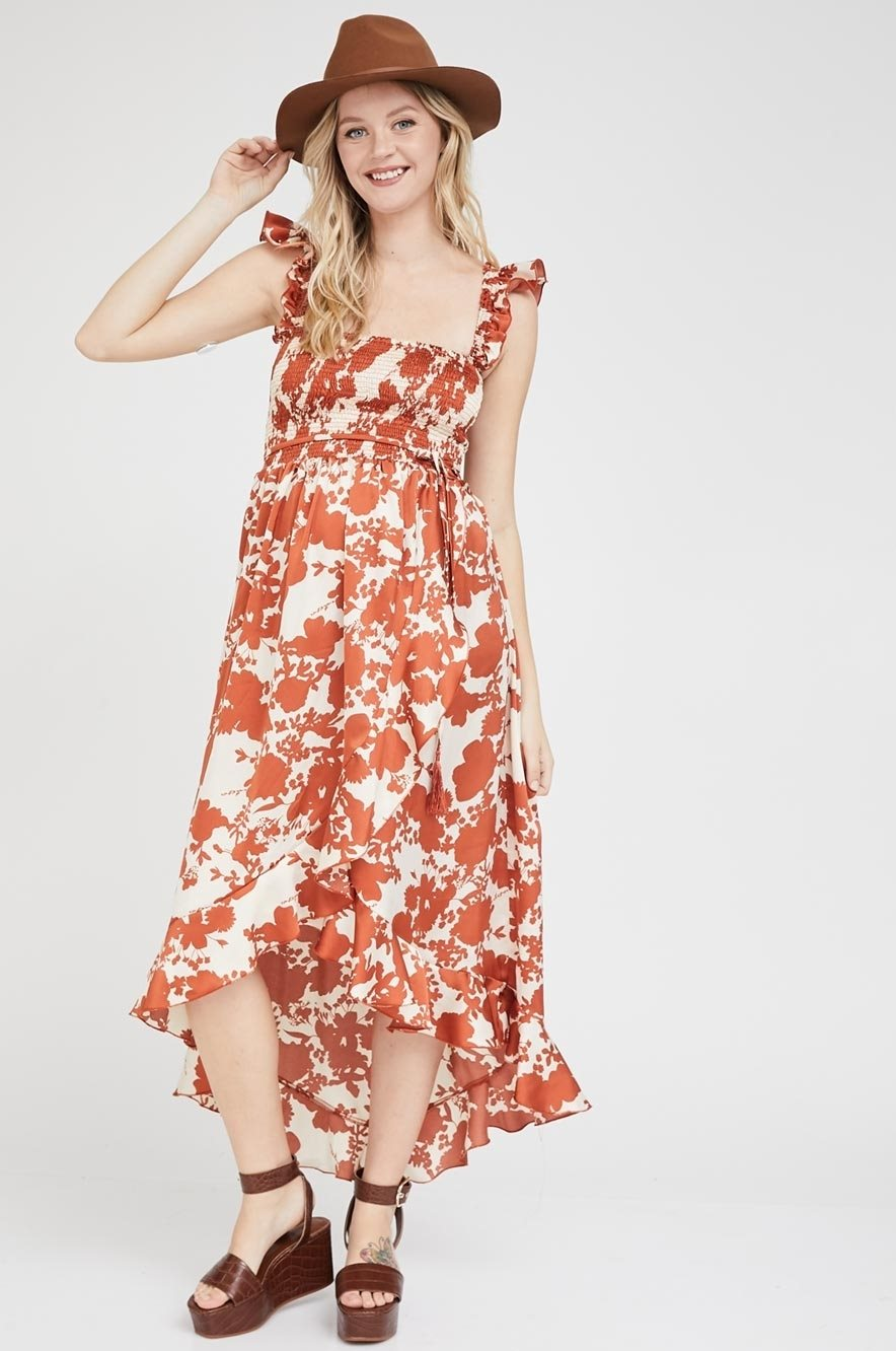 Picture of Kaia Dress Beige and Black Floral