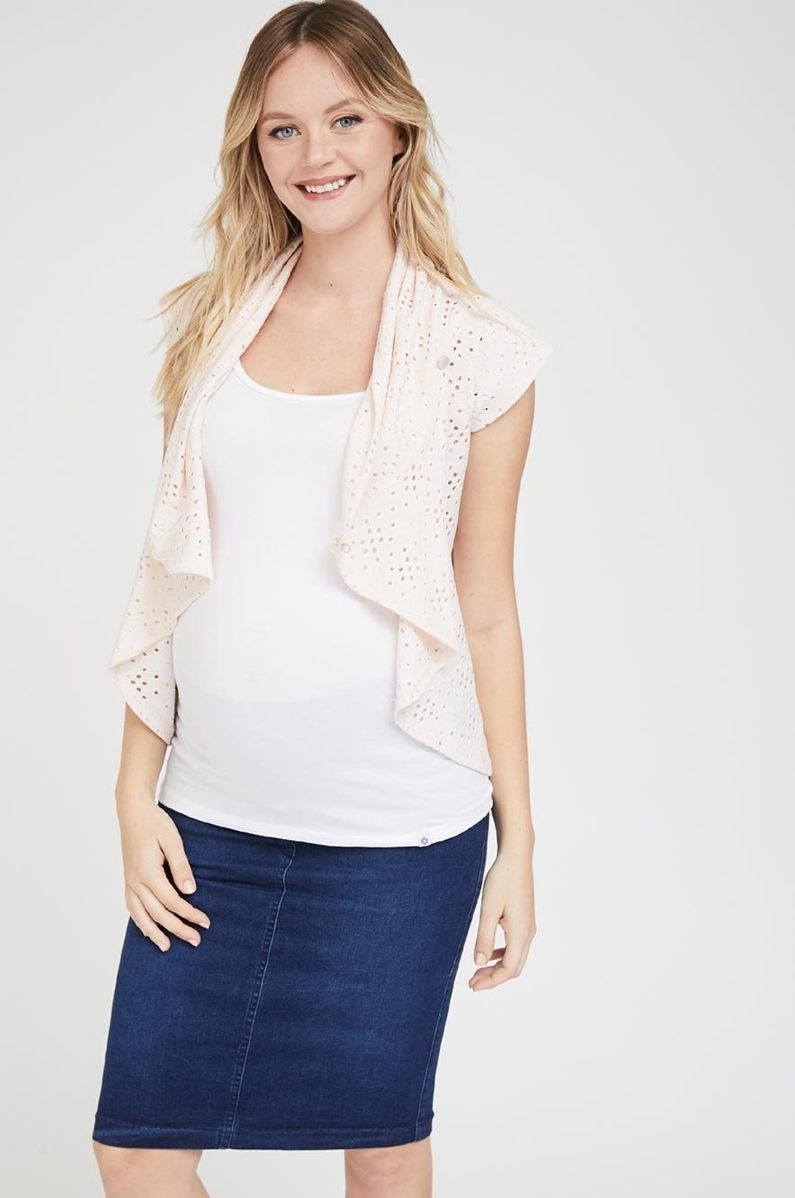 Picture of Flory Wrap Cardigan Pink