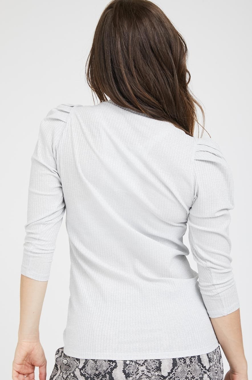 Picture of Puff Sleeve Top Grey