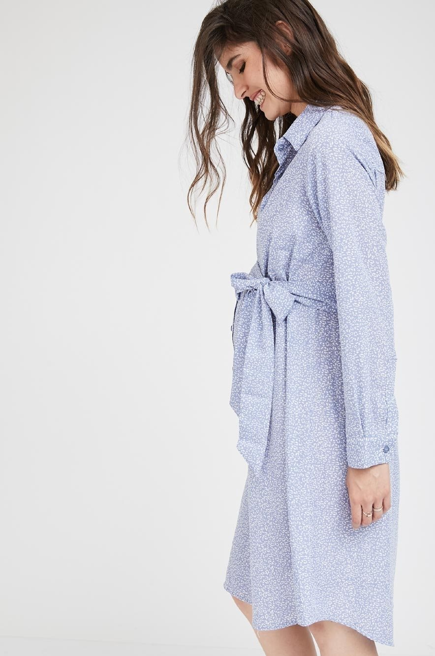 Picture of Rome shirt-dress Dreamy Blue