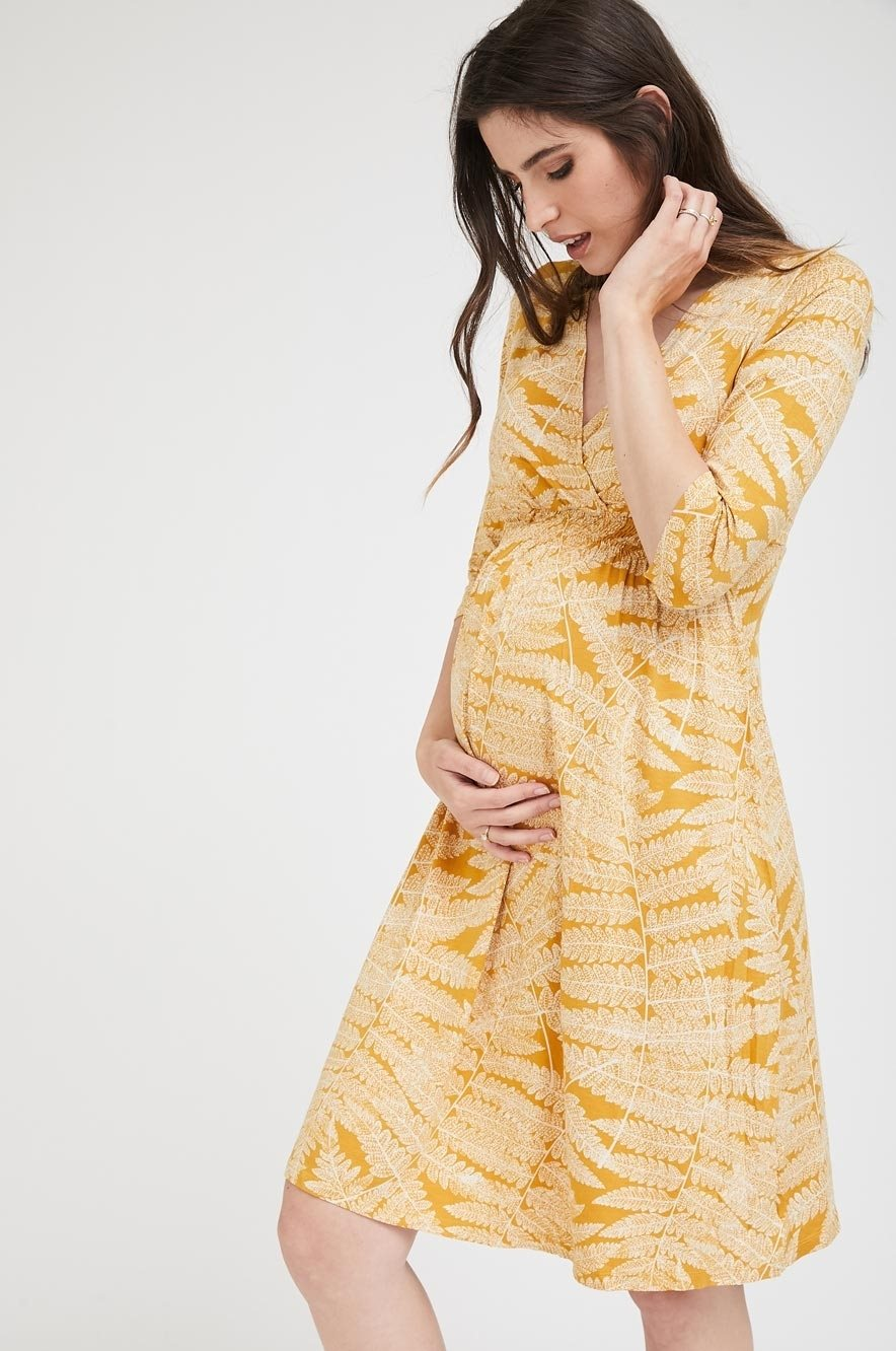 Picture of Sahar Dress Yellow Print