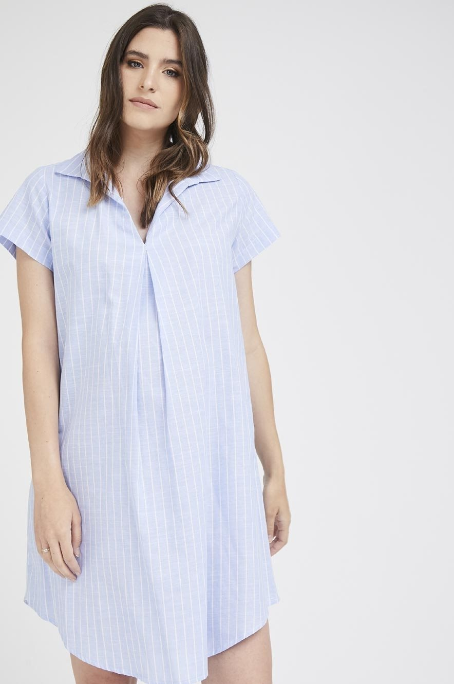 Picture of Maggie dress Blue Stripes