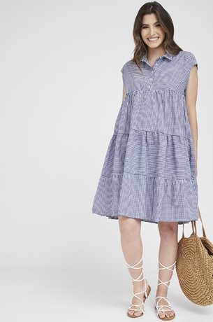 Picture of Dora Dress Blue Check