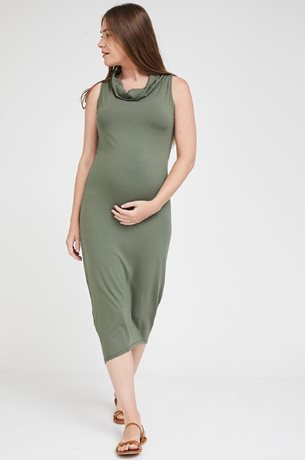 Picture of Gal Maternity Maxi Dress Olive Green