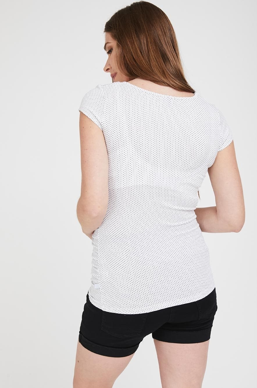 Picture of Baby Grow Top S.Sleeve White Dots