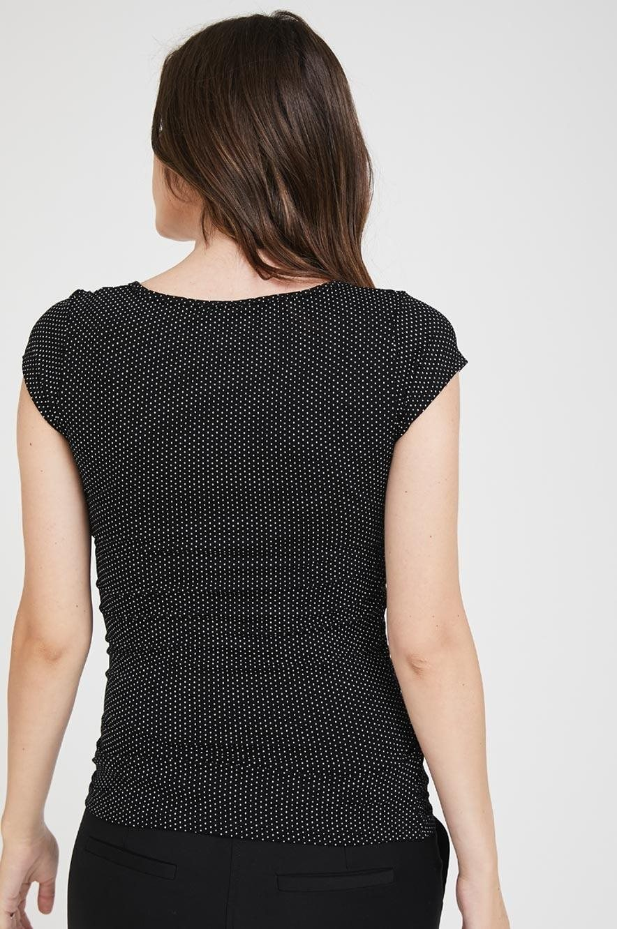 Picture of Baby Grow Top S.Sleeve Black Dots