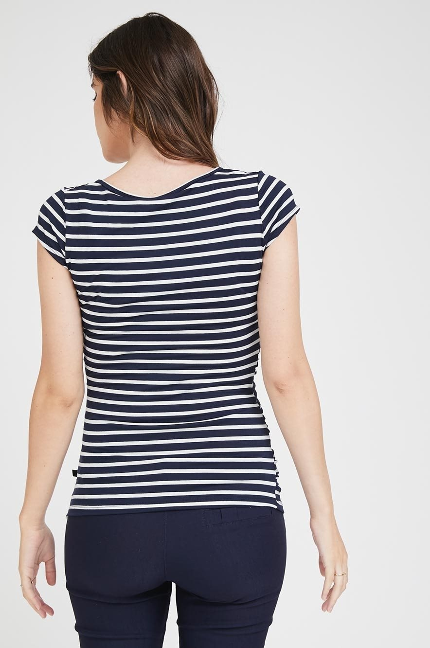 Picture of Baby Grow Top S.Sleeve Navy Stripes