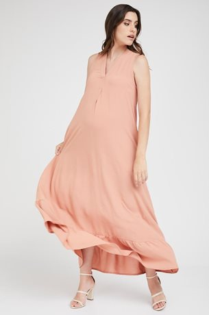 Picture of Coral Maternity Dress Peach