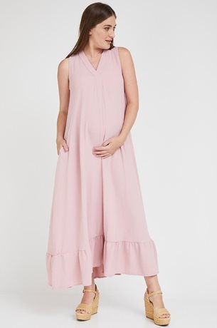 Picture of Coral Maternity Dress Pink