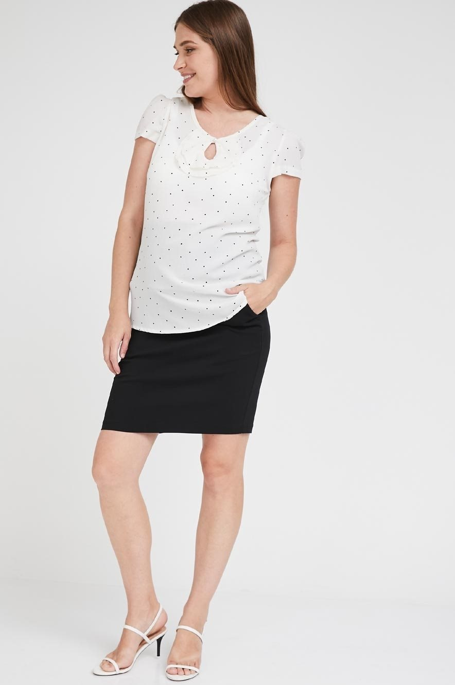 Picture of Narrow Pocket Skirt Black