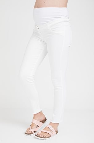 Picture of Frayed Maternity Super Skinny Jeans White