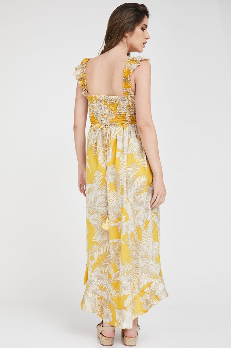 Picture of Kaia Sateen dress Yellow