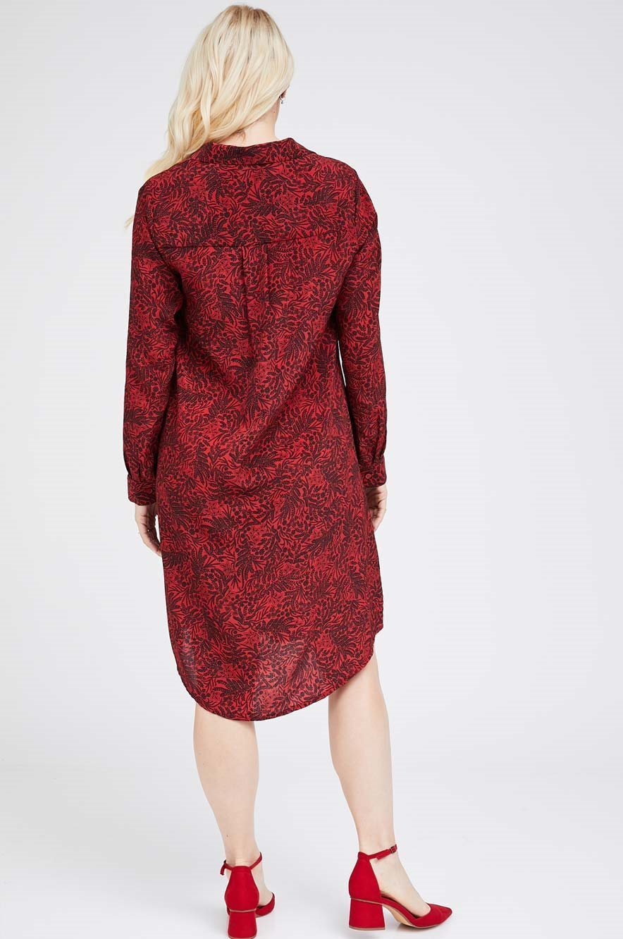 Picture of Rome shirt-dress Red print