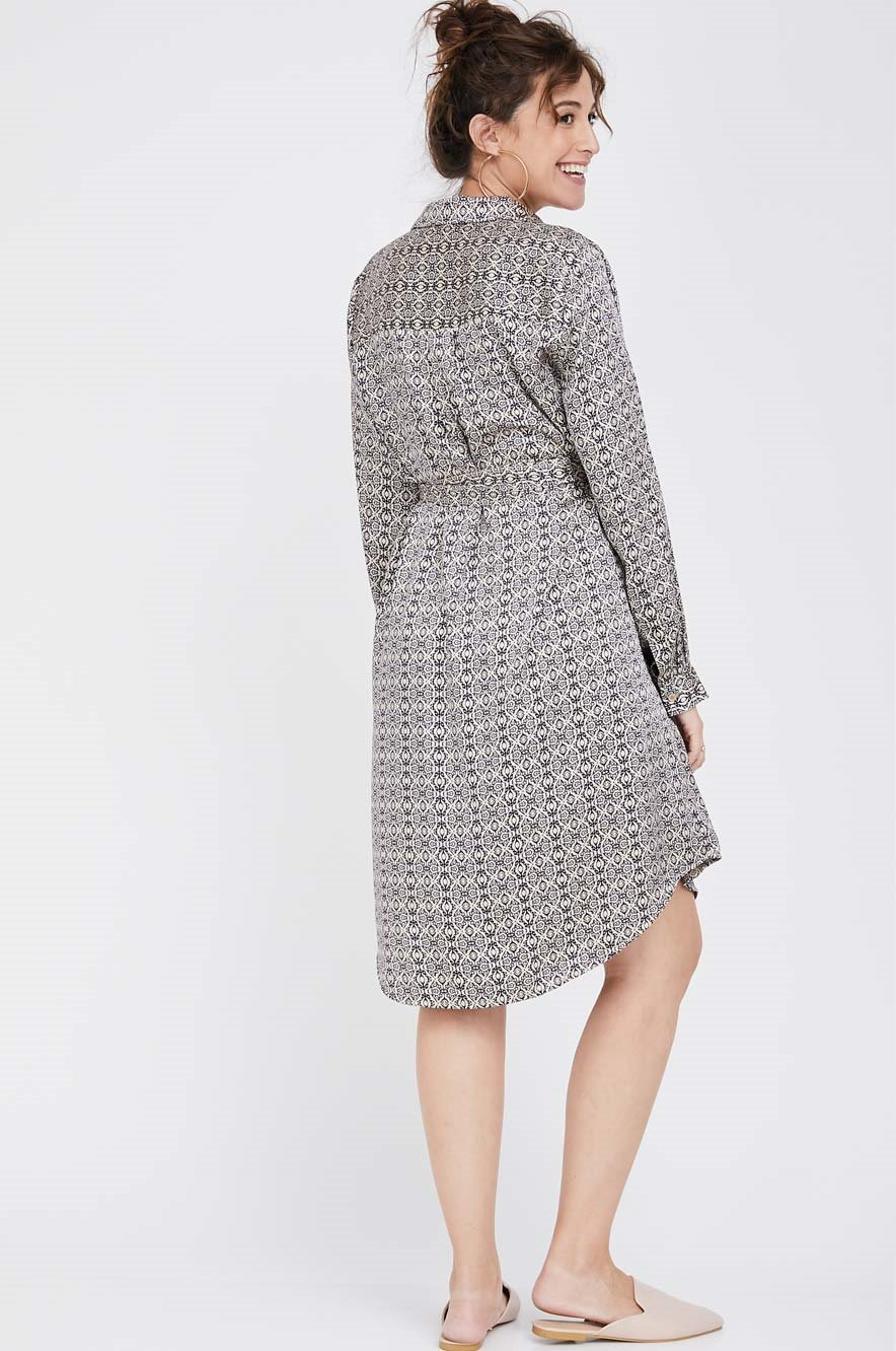 Picture of Rome shirt-dress Blue print