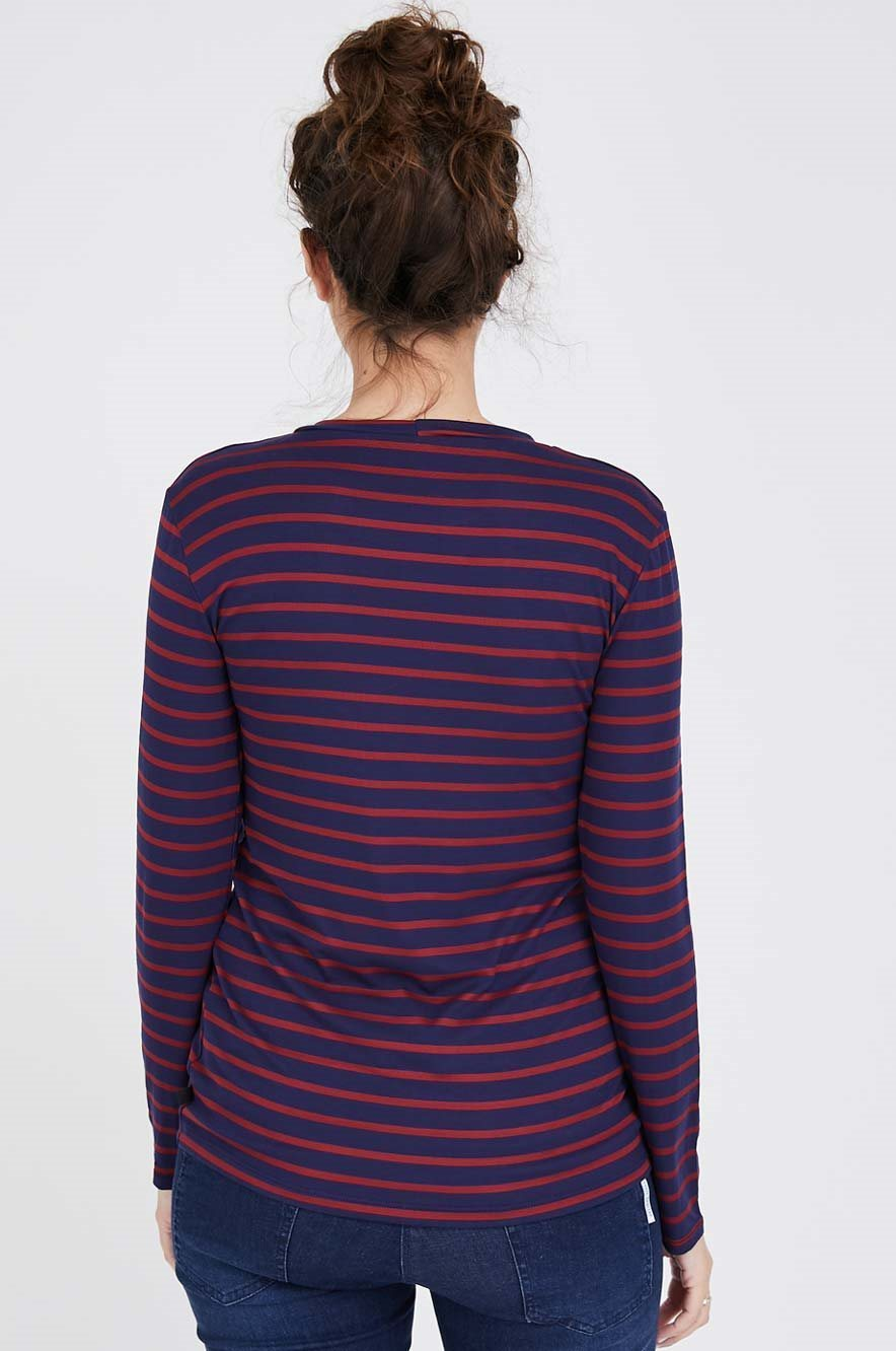 Picture of Niki Top Long Sleeve Navy stripes