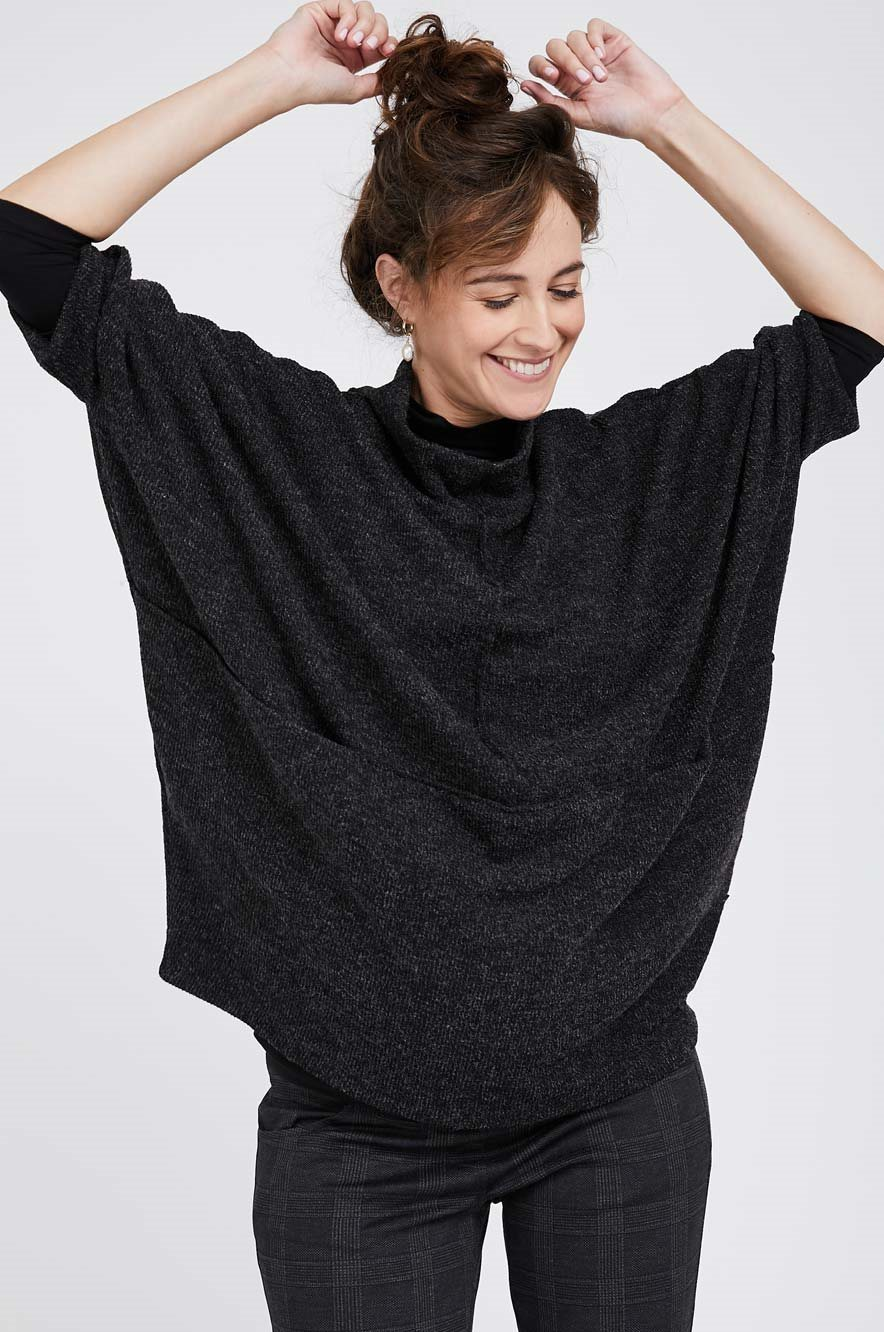Picture of Monica Knit Top Black
