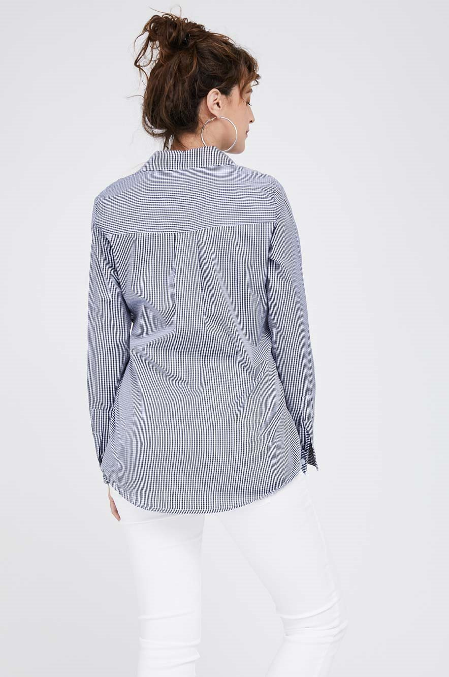 Picture of Lindos Top Navy Check