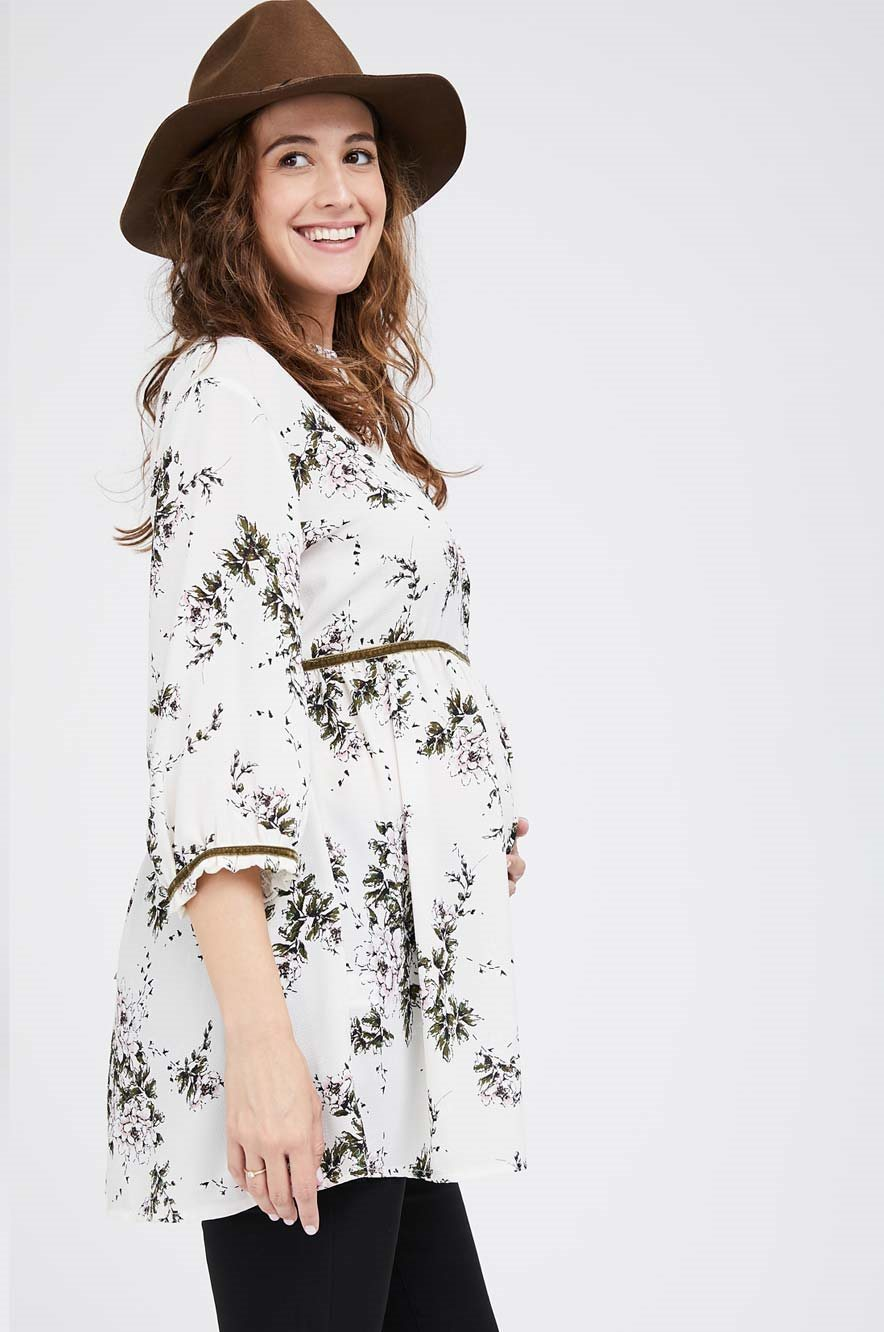 Picture of Mika Top Cream Floral