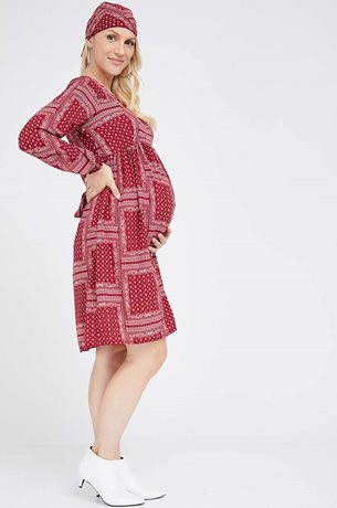 Picture of Charlotte Dress Red Bando