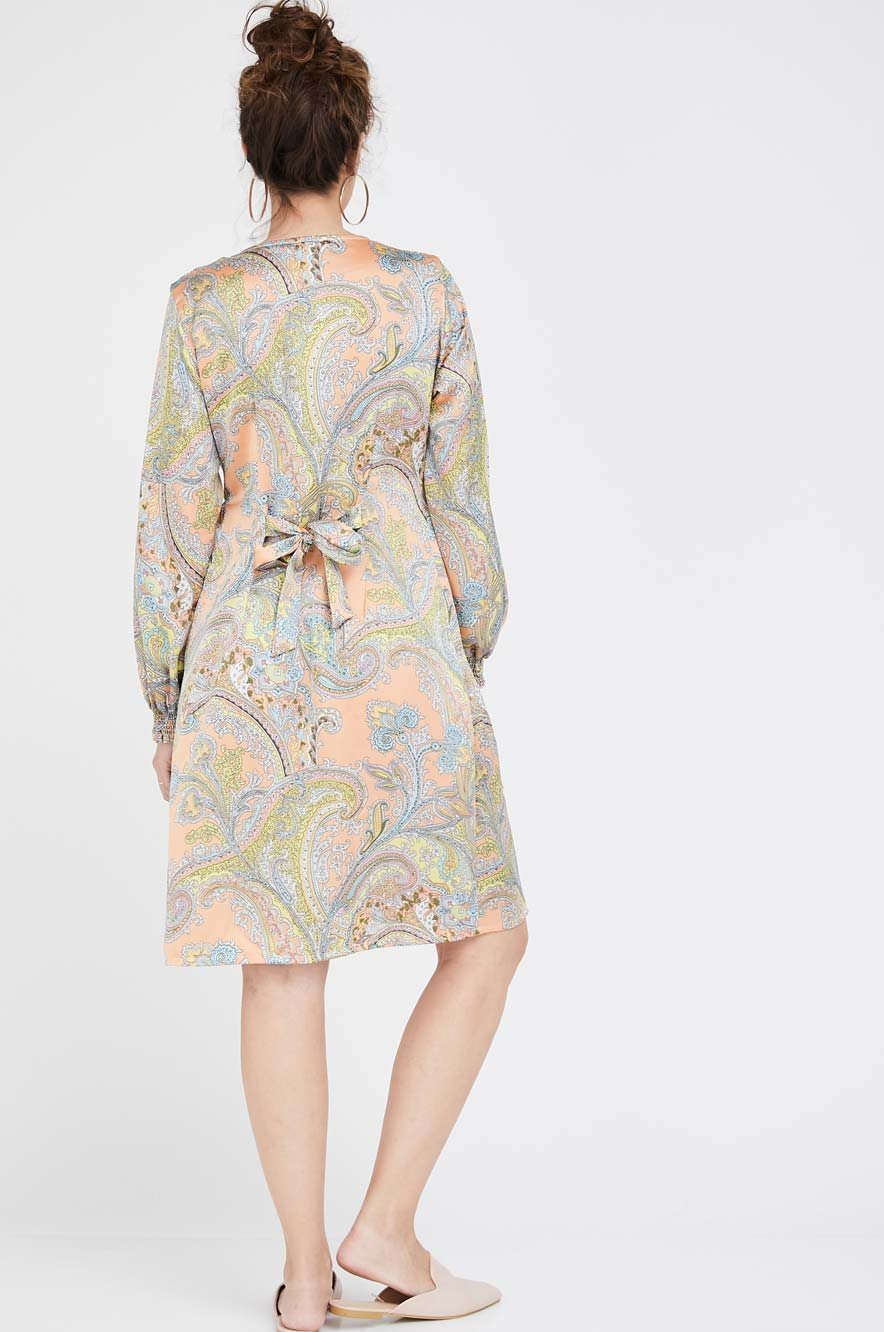 Picture of Charlotte Dress Peach Print