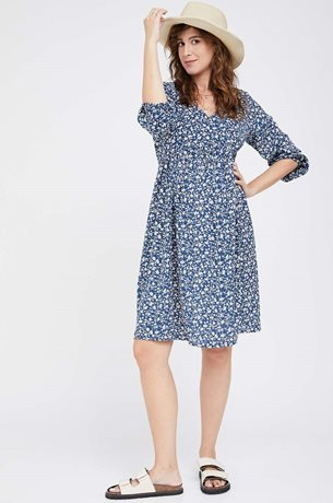 Picture of Charlotte Dress Blue Print