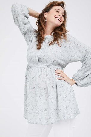 Picture of Katie Top Mint Floral