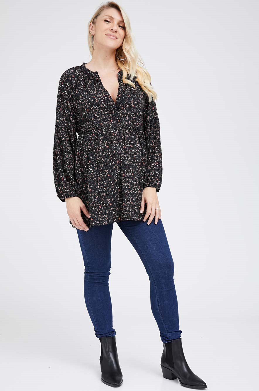 Picture of Katie Top Black Floral
