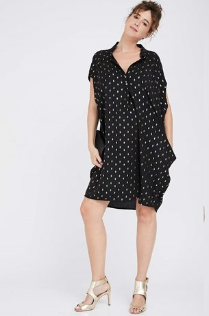 Picture of Shira Dress Black&Gold