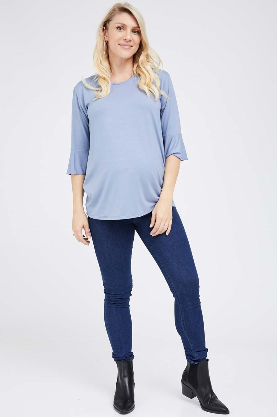 Picture of Bell Sleeve Top Light Blue