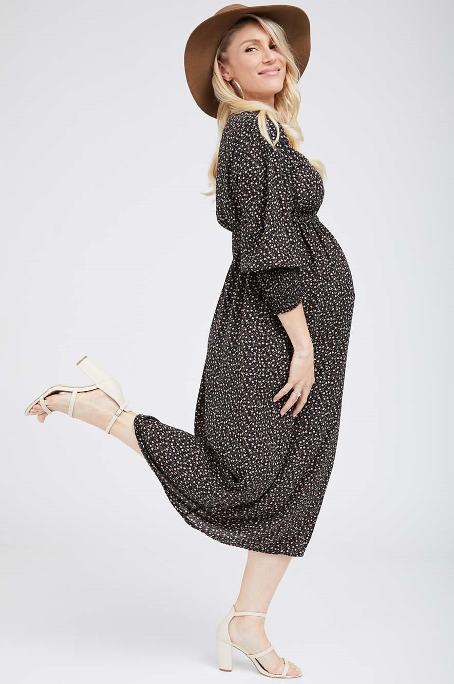 Picture of Gloria Dress Black Floral