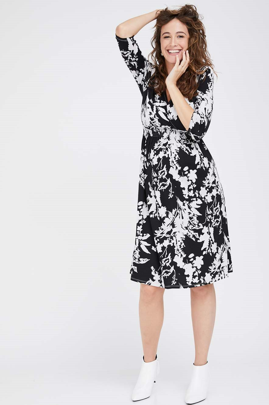 Picture of Sahar Dress Black Florals