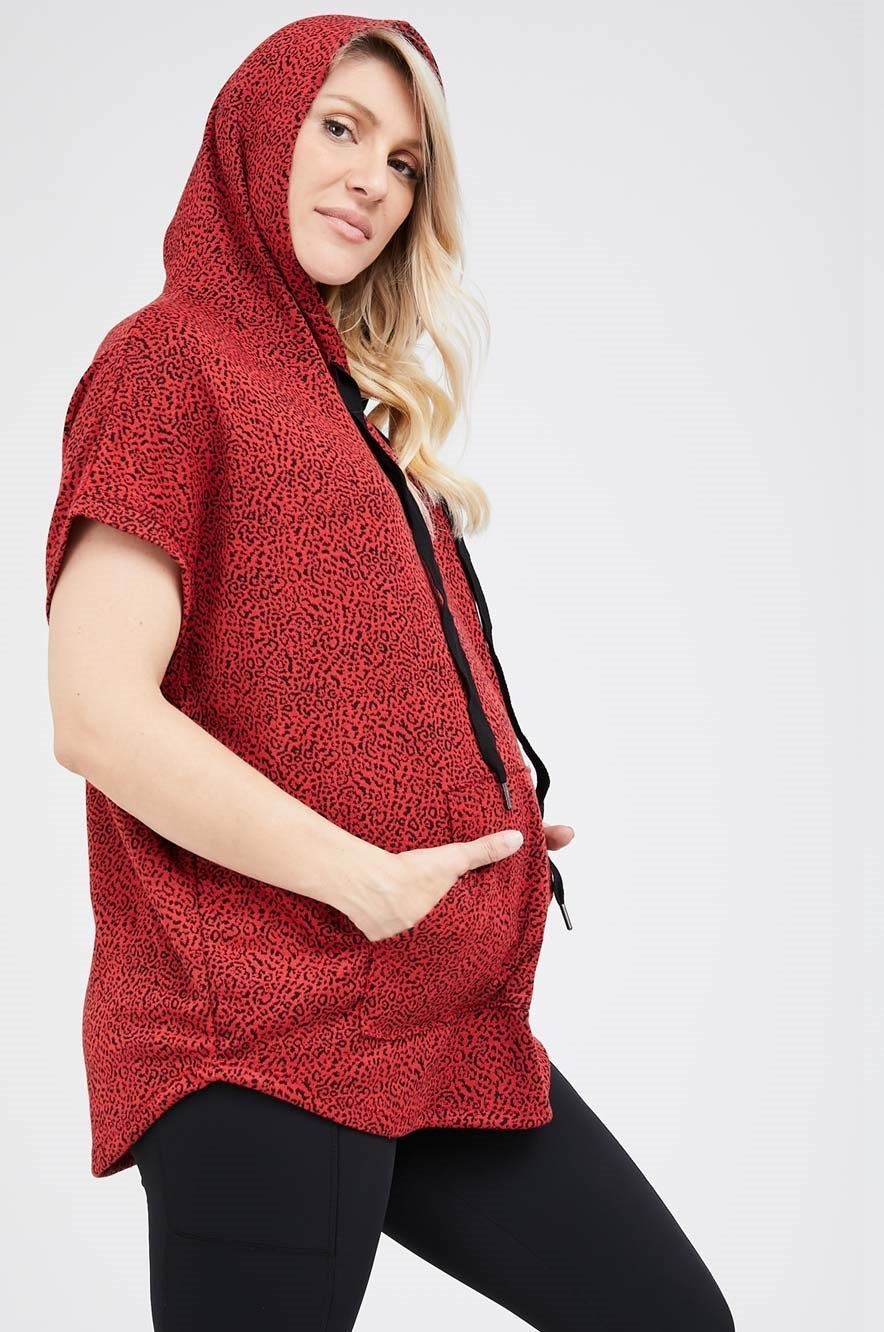 Picture of Betsy Hoodie Red print