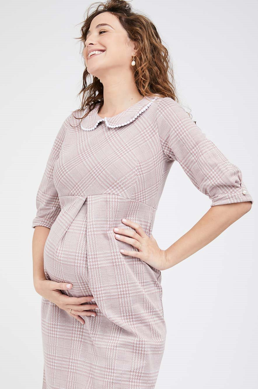 Picture of Dutchess Maternity Dress Pink